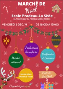 Marché de Noël @ Ecole Pradeau La Sède, Tarbes